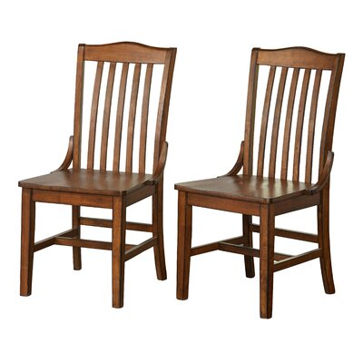 Fincher Solid Wood Dining Chair Color: Brown