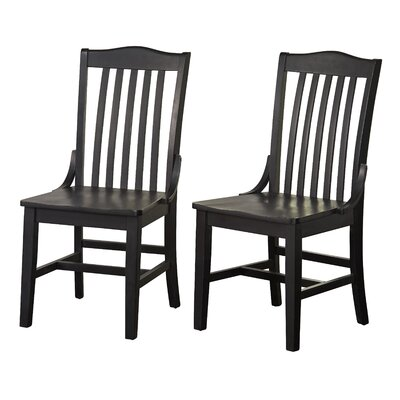 Fincher Solid Wood Dining Chair Color: Black