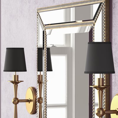 4 Parchment Empire Clip-on Candelabra Shade with Paper Liner Finish: Gold