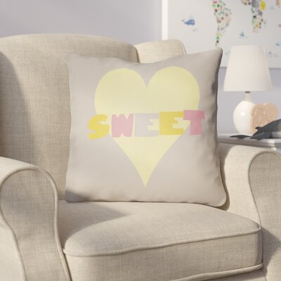 Colinda Sweet Throw Pillow Size: 20 H x 20 W x 4 D, Color: Grey