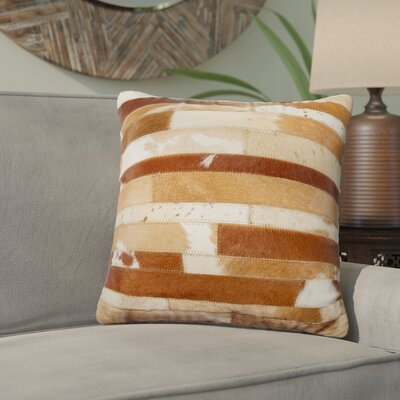 Graham Leather Throw Pillow Color: Brown