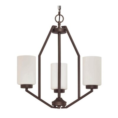 Philbrick 3-Light Mini Chandelier Finish: Bronze