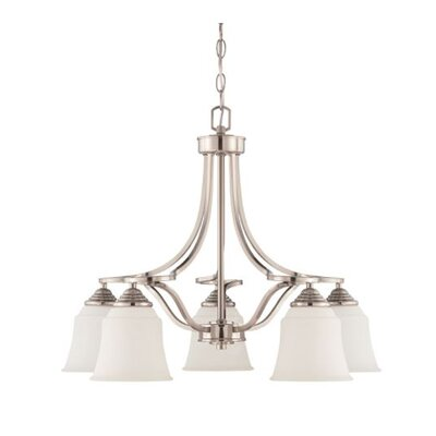Woollard Down 5-Light Candle-Style Chandelier Finish: Bright Satin Nickel