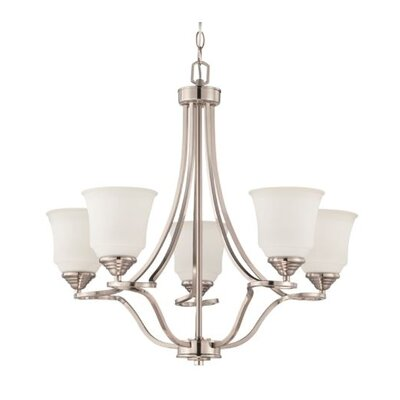 Woollard 5-Light Candle-Style Chandelier Finish: Bright Satin Nickel