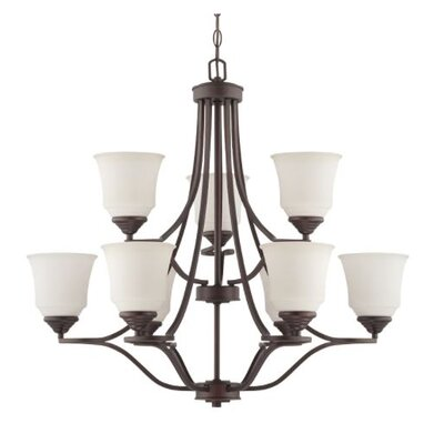 Woollard 9-Light Candle-Style Chandelier Finish: Provincial Bronze