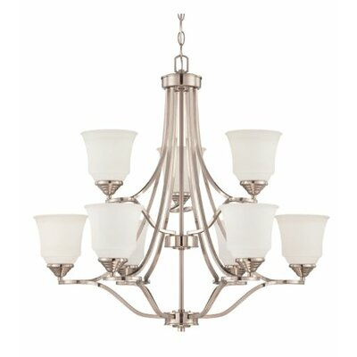 Woollard 9-Light Candle-Style Chandelier Finish: Bright Satin Nickel