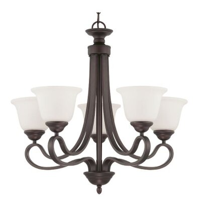 Fenske 5-Light Candle-Style Chandelier Finish: Bronze