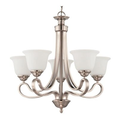Fenske 5-Light Candle-Style Chandelier Finish: Nickel