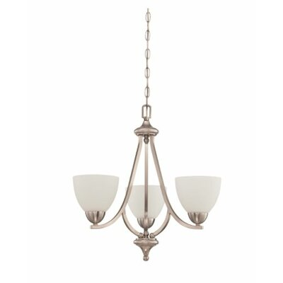 Fenton 3-Light Mini Chandelier Finish: Nickel