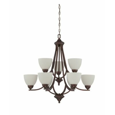 Fenton 9-Light Candle-Style Chandelier Finish: Nickel