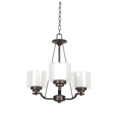Woolridge 3-Light Mini Chandelier Finish: Bronze