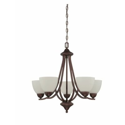Fenton 5-Light Candle-Style Chandelier Finish: Bronze