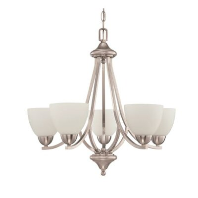 Fenton 5-Light Candle-Style Chandelier Finish: Nickel