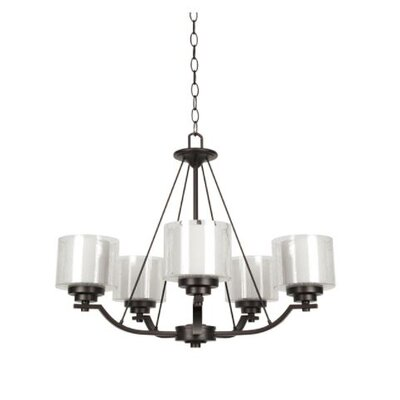 Woolridge 5-Light Candle-Style Chandelier Finish: Bronze