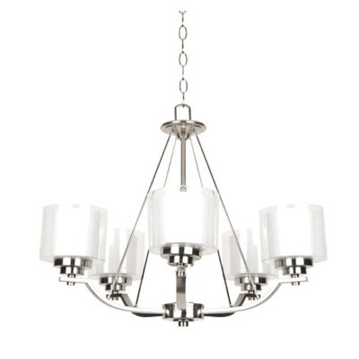 Woolridge 5-Light Candle-Style Chandelier Finish: Nickel