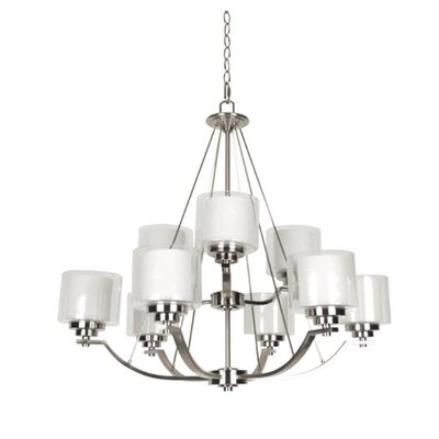 Woolridge 9-Light Candle-Style Chandelier Finish: Nickel