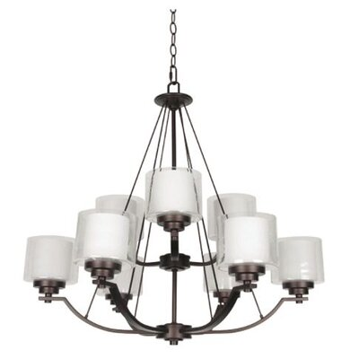 Woolridge 9-Light Candle-Style Chandelier Finish: Bronze