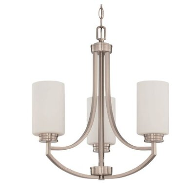Woolverton 3-Light Mini Chandelier Finish: Nickel