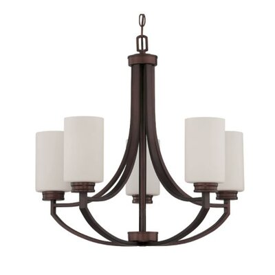Woolverton 5-Light Candle-Style Chandelier Finish: Bronze