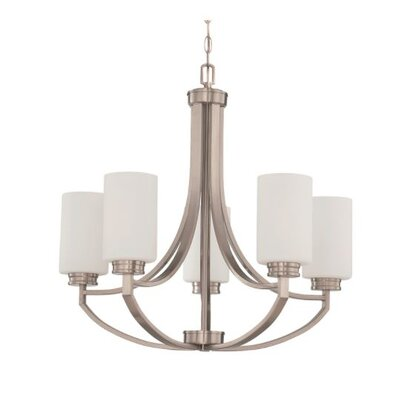 Woolverton 5-Light Candle-Style Chandelier Finish: Nickel