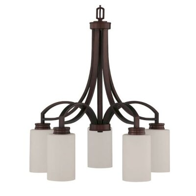 Woolverton Down 5-Light Candle-Style Chandelier Finish: Bronze