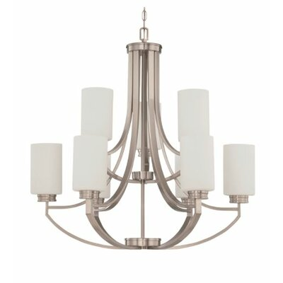 Woolverton 9-Light Candle-Style Chandelier Finish: Nickel