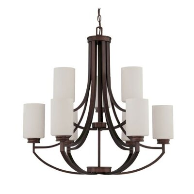 Woolverton 9-Light Candle-Style Chandelier Finish: Bronze