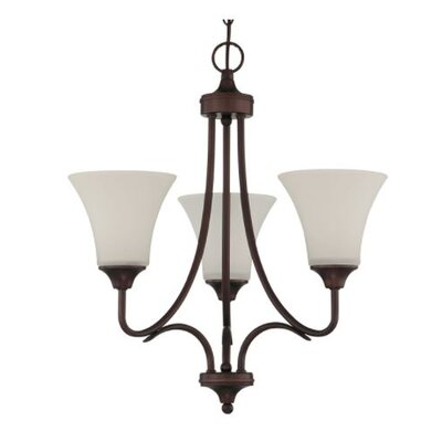 Fiala 3-Light Mini Chandelier Finish: Bronze
