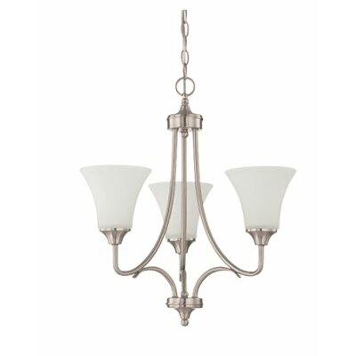 Fiala 3-Light Mini Chandelier Finish: Nickel
