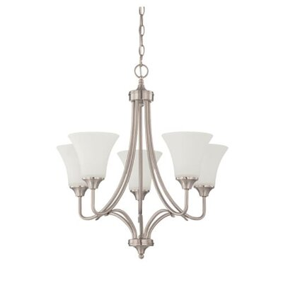Fiala 5-Light Candle-Style Chandelier Finish: Nickel