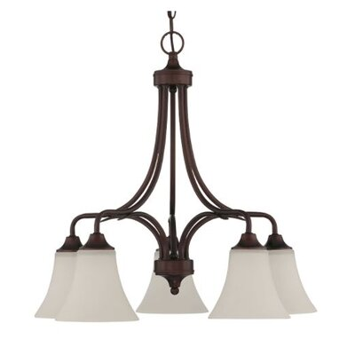 Fiala Down 5-Light Candle-Style Chandelier Finish: Bronze