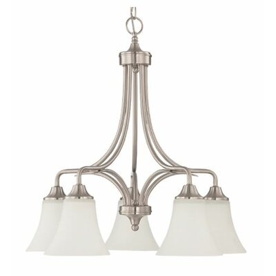 Fiala Down 5-Light Candle-Style Chandelier Finish: Nickel