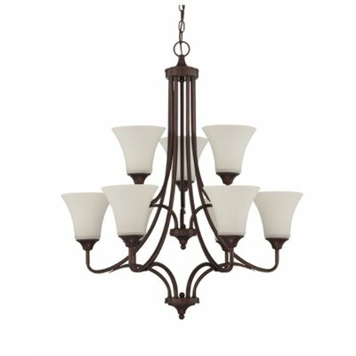 Fiala 9-Light Candle-Style Chandelier Finish: Bronze
