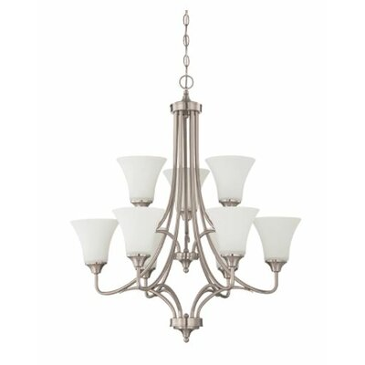 Fiala 9-Light Candle-Style Chandelier Finish: Nickel