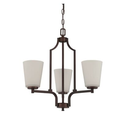 Woosley 3-Light Mini Chandelier Finish: Bronze