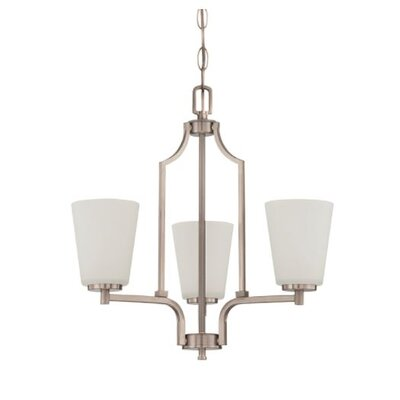 Woosley 3-Light Mini Chandelier Finish: Nickel