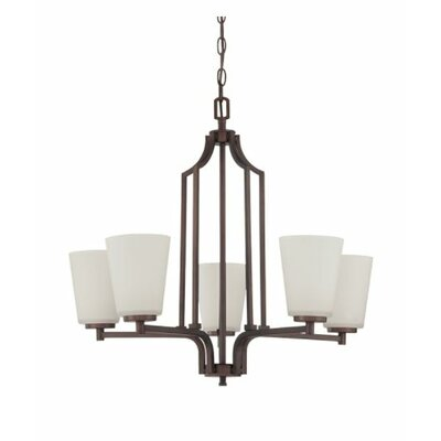 Woosley 5-Light Candle-Style Chandelier Finish: Bronze