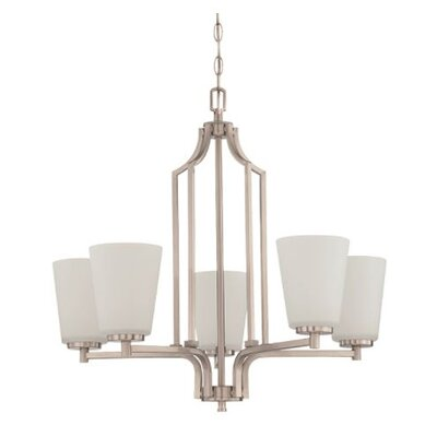 Woosley 5-Light Candle-Style Chandelier Finish: Nickel