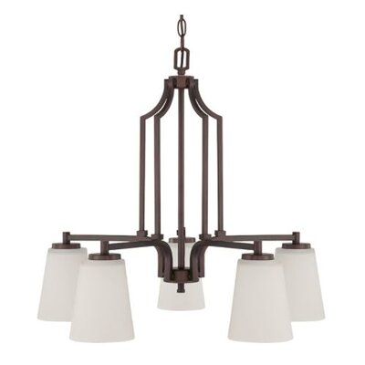 Woosley Down 5-Light Candle-Style Chandelier Finish: Bronze