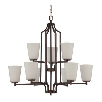 Woosley 9-Light Candle-Style Chandelier Finish: Bronze