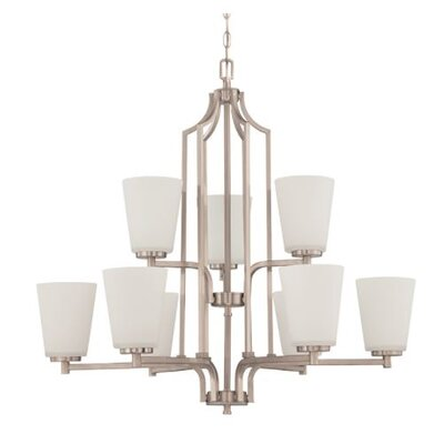 Woosley 9-Light Candle-Style Chandelier Finish: Nickel