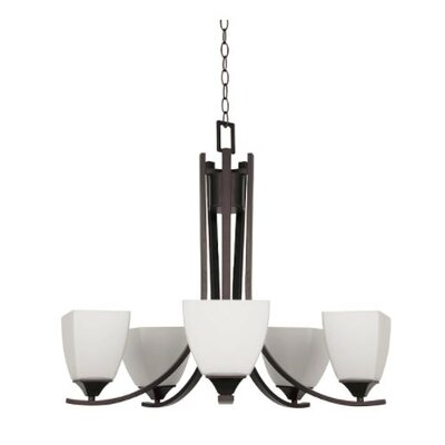 Wooten 5-Light Candle-Style Chandelier Finish: Bronze