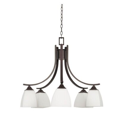 Wooten Down 5-Light Candle-Style Chandelier Finish: Bronze