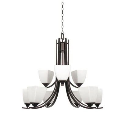 Wooten 9-Light Candle-Style Chandelier Finish: Bronze