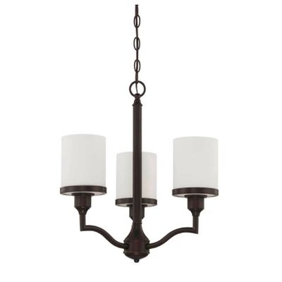 Ecklund 3-Light Mini Chandelier Finish: Bronze