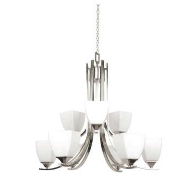 Wooten 9-Light Candle-Style Chandelier Finish: Nickel