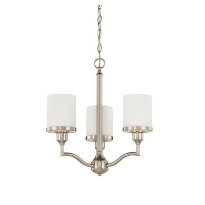 Ecklund 3-Light Mini Chandelier Finish: Nickel