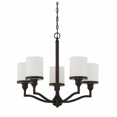 Ecklund 5-Light Candle-Style Chandelier Finish: Bronze