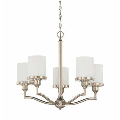Ecklund 5-Light Candle-Style Chandelier Finish: Nickel