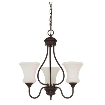 Freeborn 3-Light Mini Chandelier Finish: Bronze
